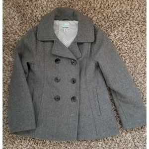 Girls Old Navy Gray Peacoat